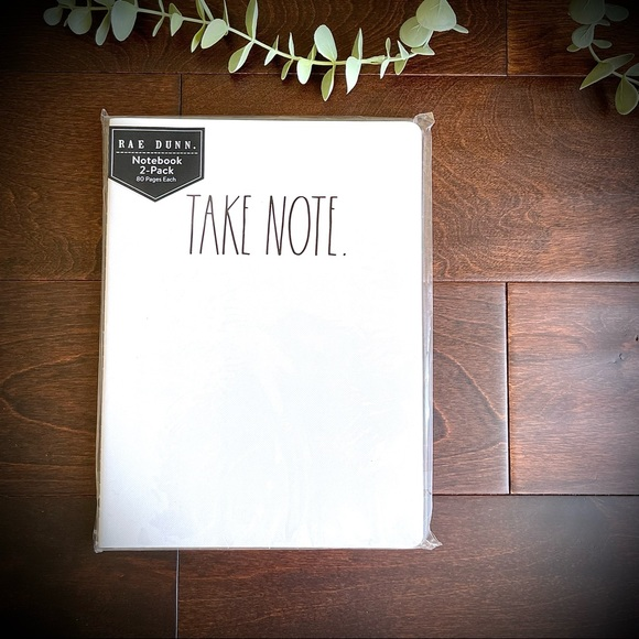 Rae Dunn Notebooks 2-Pack NWT